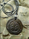 SOLD - Leather Tree of Life Necklace