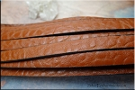 Brown Leather, Textured Brown Leather Strap by the Foot, 10mm Wide