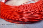 1mm Red Leather Cord,10-feet