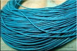 1mm Teal Blue Leather Cord, 10-feet
