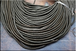 2mm Grey Leather Cord, Gray Leather, 10-feet