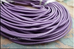 2mm Lavender Leather Cord, Purple Leather, 10-feet