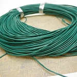 1mm Emerald Green Leather Cord, 10-feet
