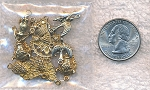 Solid Brass Connectors Dangler Findings, 10-piece Mixed Lot, CLOSEOUT
