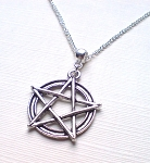 Silver Pentacle Necklace Pendant - Everyday Spiritual Jewelry