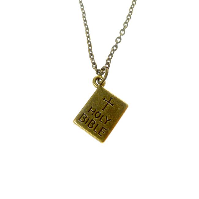 Bronze Bible Necklace