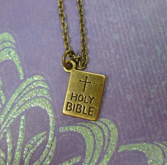 Bronze Bible Necklace