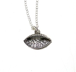 Football Necklace, I Love Football Charm Necklace, Sports Jewelry
