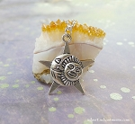 Silver Sun Moon Star Necklace, Celestial Jewelry