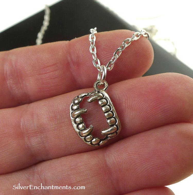 Silver Vampire Necklace Vampire Jewelry
