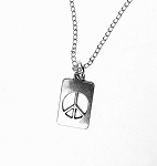 Peace Sign Necklace, Peace Charm Necklace, Peace Jewelry