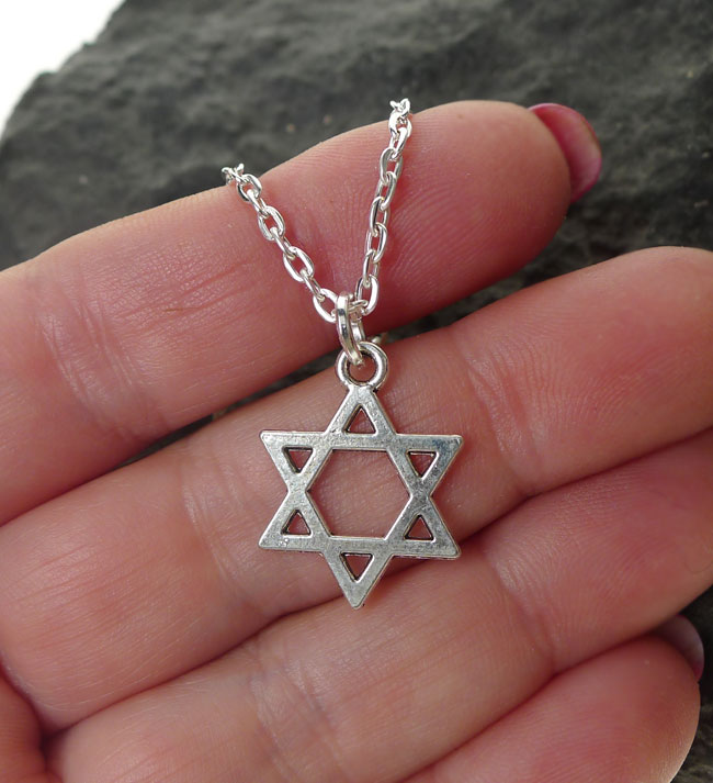 Star Of David Necklace Everyday Silver Jewish Jewelry
