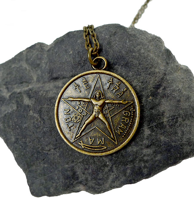 Tetragrammaton necklace antiqued bronze tetragrammaton with tetragrammaton necklace antiqued bronze tetragrammaton with vitruvian man esoteric pentagram necklace mozeypictures Gallery