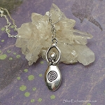 Silver Goddess Necklace - Everyday Spiral Goddess Jewelry