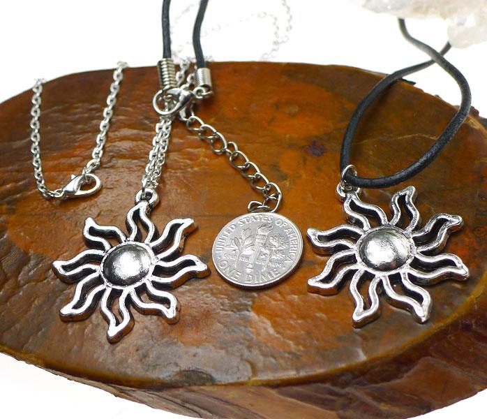 Silver Sun Necklace - Everyday Celestial Jewelry