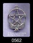 Sterling Silver Isis Pentacle Pendant, 30x21mm