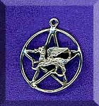 Sterling Silver Dragon Pentacle