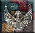 Sterling Silver Isis with Pentacle Necklace Y Component, Pagan and Egyptian Jewelry Making Supply - CLEARANCE