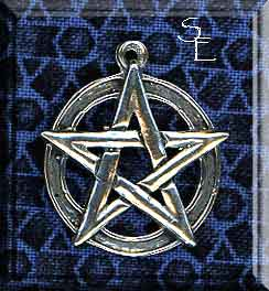 Sterling Silver Classic Pentacle Pendant, Pentagram Necklace