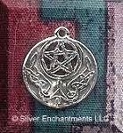Sterling Silver Celtic Moon Pentacle Jewelry, 16mm Celtic-Pagan Jewelry