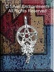 Sterling Silver Fairy Pentacle Pendant, 12mm