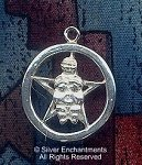 Sterling Silver Fertility Goddess Pentacle Pendant, Goddess Jewelry