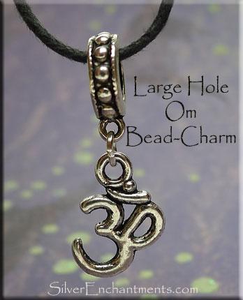 Om Symbol Large Hole Charm Pendant Big Hole Om European