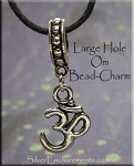 Om Symbol Large Hole Dangle - Fits All European Add a Bead Jewelry