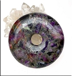 Sea Sediment Jasper and Pyrite Mosaic Gemstone Donut 50mm