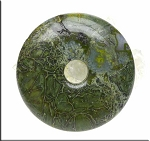 Alligator Jasper Pendants, Large Alligator Skin Jasper Donut Pendants 50mm (1)
