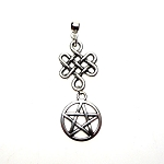 Silver Celtic Pentacle Pendant, Celtic Pentagram Necklace Pendant - Everyday Spiritual Jewelry
