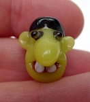 Goblin Bead, Lampworked Glass, Halloween Beads - CLEARANCE