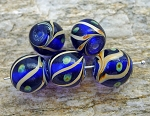 Lampworked Multicolor Round Bead | Art Glass Bead