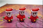 Lampworked Glass Bead, Santa Claus, Christmas Focal Bead