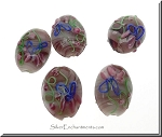 Lampworked Glass Floral Focal Bead