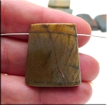 Red Creek Jasper Trapezoid Pendant Bead - CLEARANCE