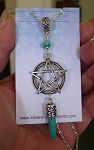 Boho Pentacle Necklace with Spike, Turquoise