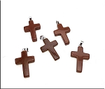 Goldstone Cross Pendants, Bailed (1)