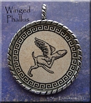 Winged Phallus Pendant - Evil Eye Warding, Good Fortune, Fertility