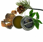 Piñon and Patchouli Salve - Herbal Salve, Relaxing Organic Aromatherapy and Ritual Balm - Pinyon Pine Patchouli Ointment, Organic