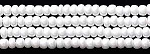 Czech Seed Beads, Opaque White, Size 12/0, Hank
