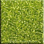 Miyuki Seed Beads, Size 11/0, Silver Lined Chartreuse, 18gr Tube, RR-14