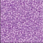 11/0 Miyuki Seed Beads, Inside Color Lined Orchid Lavender, 18gr Tube, 11RR-0222