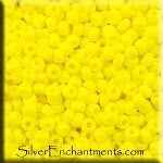 Miyuki Seed Beads 8/0, Opaque Yellow Glass Seed Beads Size 8, 8RR-0404