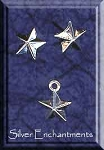Star Post Earrings and Matching Charm Gift Set, Sterling Silver