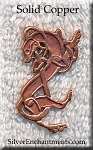 Solid Copper Celtic Greyhound Pendant - CLOSEOUT