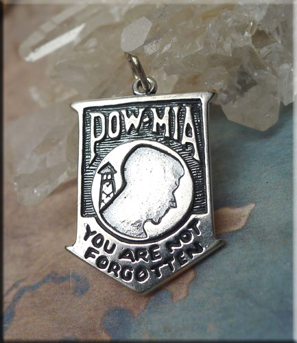 Sterling Silver Pow Mia Charm