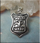 Sterling Silver Police Shield Charm