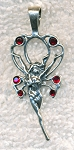 Sterling Silver Bailed Fairy with Crystals Pendant