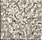 SuperDuo Seed Beads, Silver-Lined Crystal, 10g Czech Glass Two Hole Beads